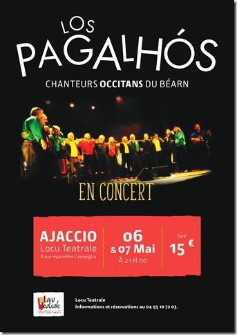 Concerts du Groupe  Occitan du Béarn,  Los Pagalhós à Locu Téatrale