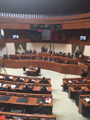La session extraordinaire du Conseil régional sarde.