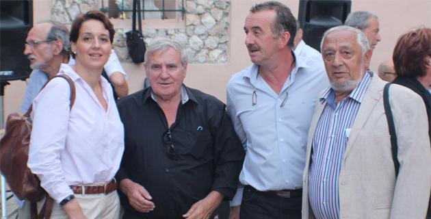 Anne Avenoso, François Dalcoletto, Joseph Gandolfi et Jean Grazi (à droite) qui avait été reçu avec le Comité par l'archiconfrérie Saint-Joseph de Bastia avant la Cunsulta des Corses de l'extérieur de Septembre dernier en Castagniccia