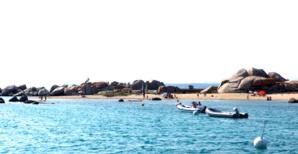 Les îles Lavezzi au large de Bonifacio.