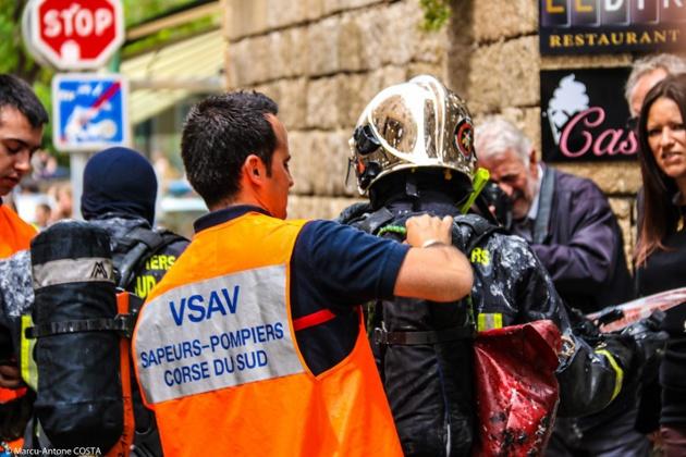 Ajaccio : Un incendie ravage un appartement de la vieille ville