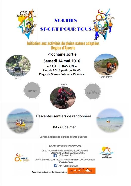 Sortie Sport pour Tous du samedi 14 mai