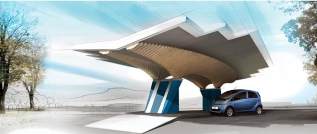 Après Bastia, un parasol solaire Driveco implanté à Ajaccio