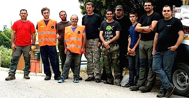 Les membres de la réserve communale de sécurité civile