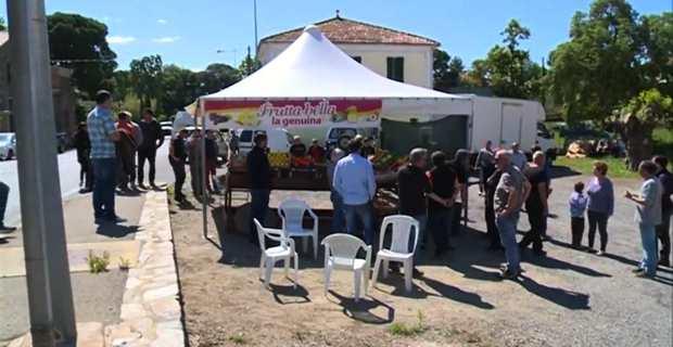 Mobilisation des agriculteurs de la FDSEA.