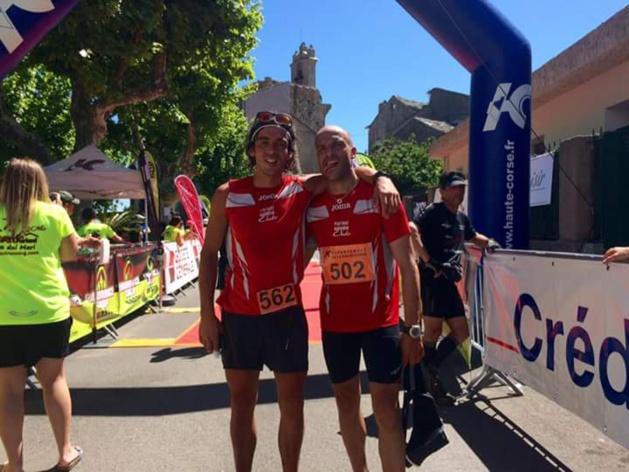 Les deux insulaires du podium de la 24km (Photo Running Cub de Furiani)
