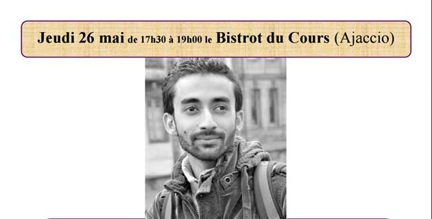 Le journaliste et poète syrien, Omar Youssef Souleimane au Bistrot du Cours
