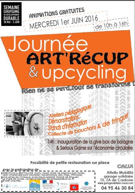 Journée « Art'Récup & Upcycling le 1er juin au Garage solidaire-Attelu Mubilita de Calvi
