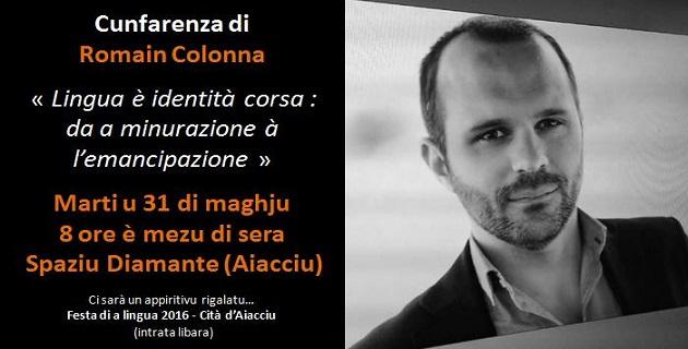 Conférence de Romain Colonna mardi à l'Espace Diamant à Ajaccio