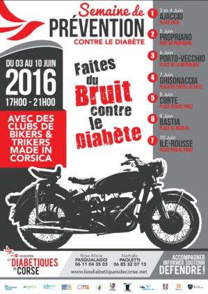 Les Diabétiques de Corse sur les routes de l'Île avec des clubs de Bikers & Trikers