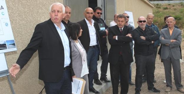 Le réservoir d'eau potable, réhabilité, du col de Salvi inauguré par Saveriu Luciani