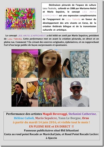 Ajaccio : Le collectif « Les arts s'affichent » s'expose dans la rue