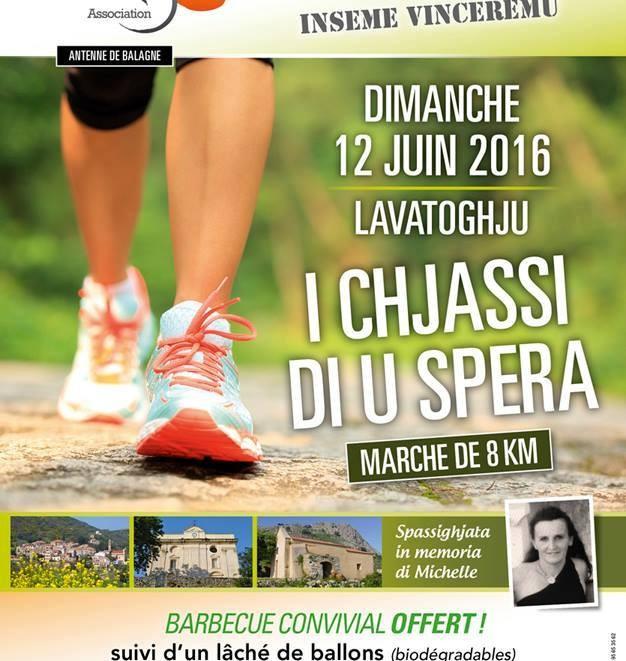 I chjassi di u spera avec la Marie-Do à Lavatoghju le 12 juin