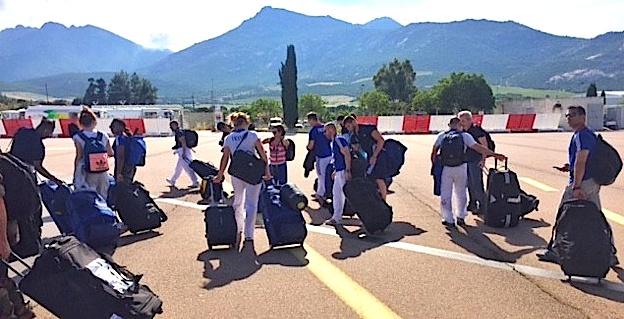 L'équipe de France de judo à Calvi pour un stage de cohésion au 2e REP