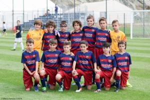 L'impressionnante équipe du FC Barcelone (Photo: Marcu-Antone Costa)