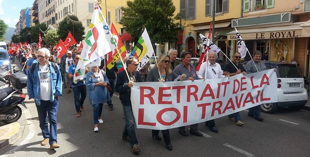 300 personnes dans la rue à Ajaccio contre la Loi travail