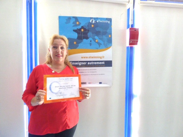 Brigitte Collomb l'une des ambassadrices du eTwinning en Corse