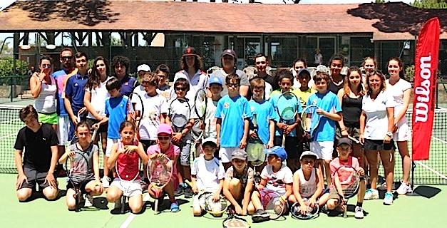 La fête à l'école de tennis du TC Calvi