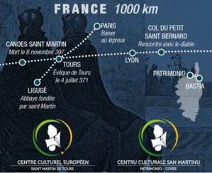 L'itinéraire culturel européen saint-Martin inauguré en juillet à Tours avec la Corse en invitée d'honneur