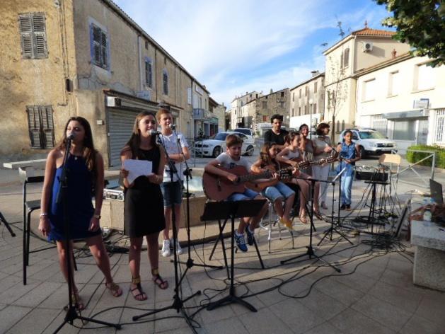 Les élèves de Music'Avvene à Ghisonaccia.