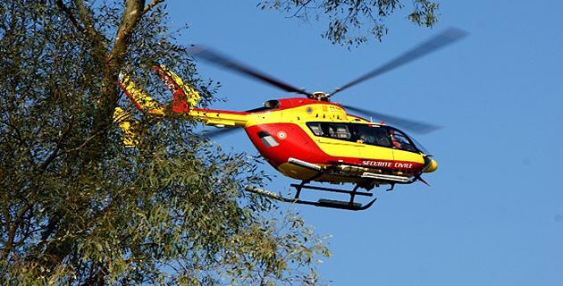 Dragon 2 B a évacué le randonneur sur l'hôpital de Calvi-Balagne