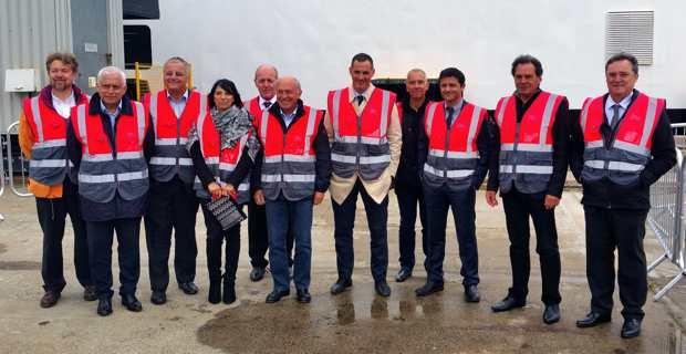 La délégation corse autour du président de l'Exécutif Gilles Simeoni.