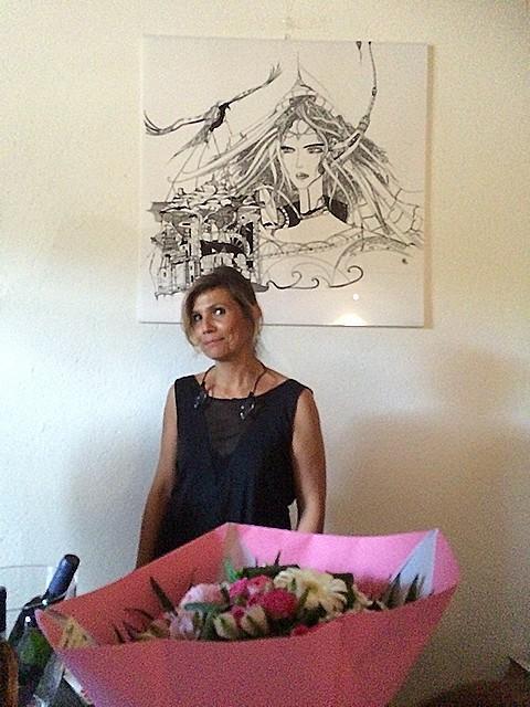 Mariage de l'art et du vin avec l'exposition de Muriel Claret au Domaine E Prove