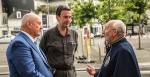 Serge Barbary, maire de Tours, Pierre-Yves Fux, ambassadeur de Suisse en Slovénie et Christian Andreani.,