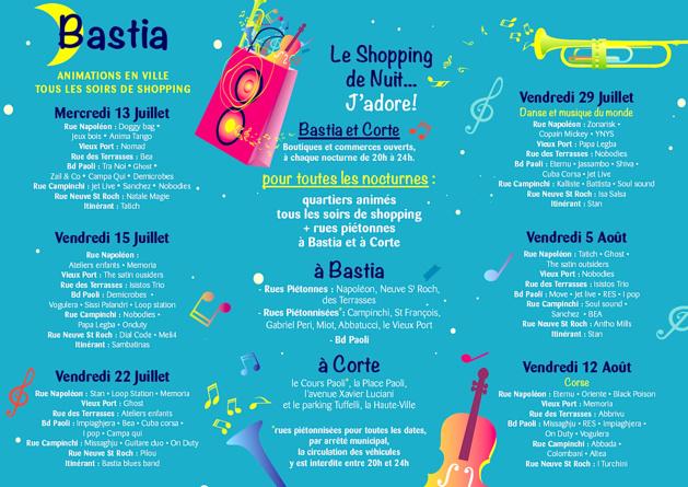 Le shopping de nuit fait son retour à Bastia
