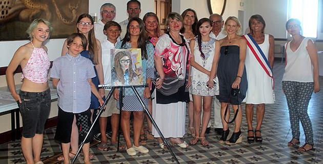Réception à l'Hôtel de Ville de Calvi en l'honneur d'artistes-peintres américains