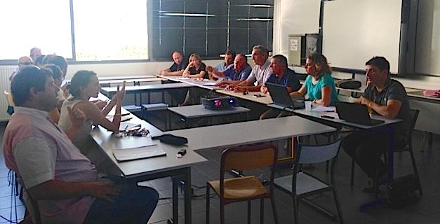 Ateliers avec Joseph Colombani président de la Chambre d'Agriculture, et François Sargentini, président de l'Odarc