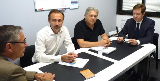 Ajaccio : Le préfet et le directeur de la Banque de France dans une TPE pour mieux se rendre compte et intervenir…