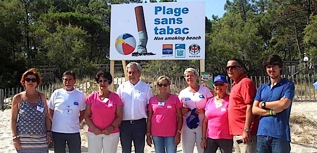 """Lancement à Calvi de l'opération """"Plage sans tabac"""""""