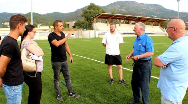 """Bastia : Une pelouse - synthétique - aux normes """"FIFA"""" pour le stade d'Erbajolu"""