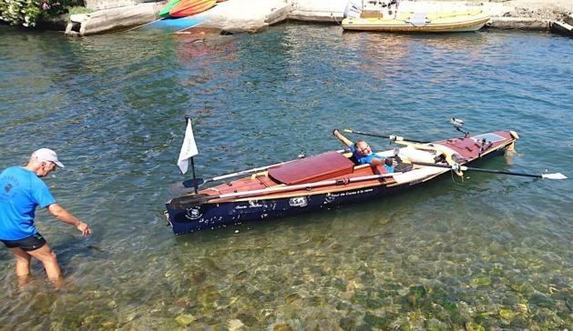 Dernier coup de rame pour Patrick Boni (Photos Patrick Boni et Aviron Haute-Corse)