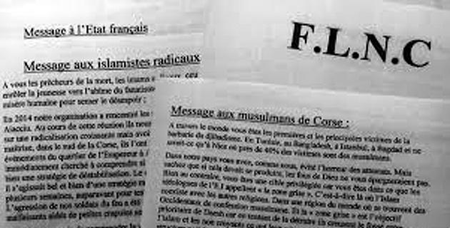 Le communiqué du FLNC du 22 octobre, rendu public mercredi soir.