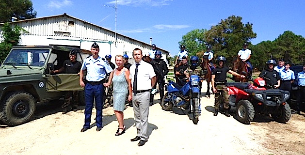 La gendarmerie présentait sur le site de Casabianda les moyens engagés dans la sécurisation estivale de la population.