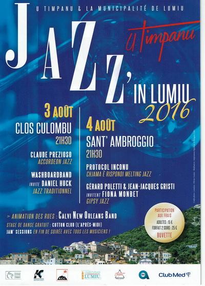Jazz'in Lumiu les 3 et 4 août