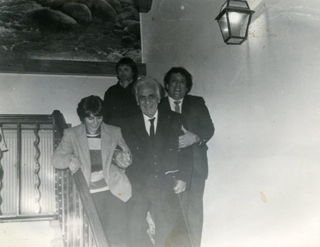 Toussaint Cardi (à droite) était un fidèle parmi les fidèles du regretté Dr Jean-Félix Orabona