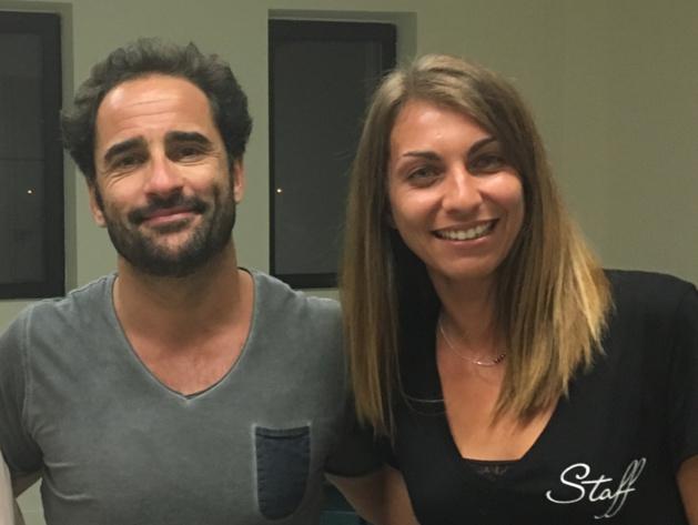 Florent Peyre et Coralie Rocchi, présidente de l'association organisatrice du festival