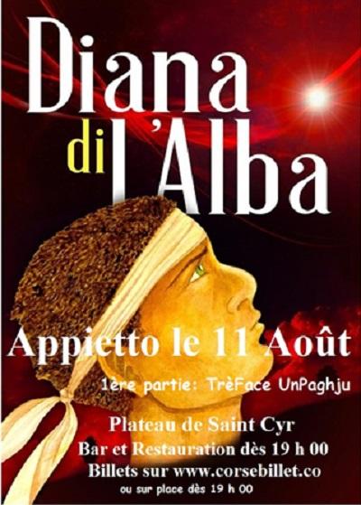 Appietto : Concert de Diana di L'Alba le 11 Août