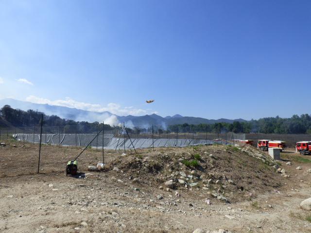 L'incendie a parcouru pour l'heure une quinzaine d'hectares.