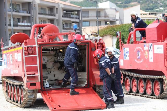 Des renforts du SDIS de Haute-Corse dans les Bouches-du-Rhône