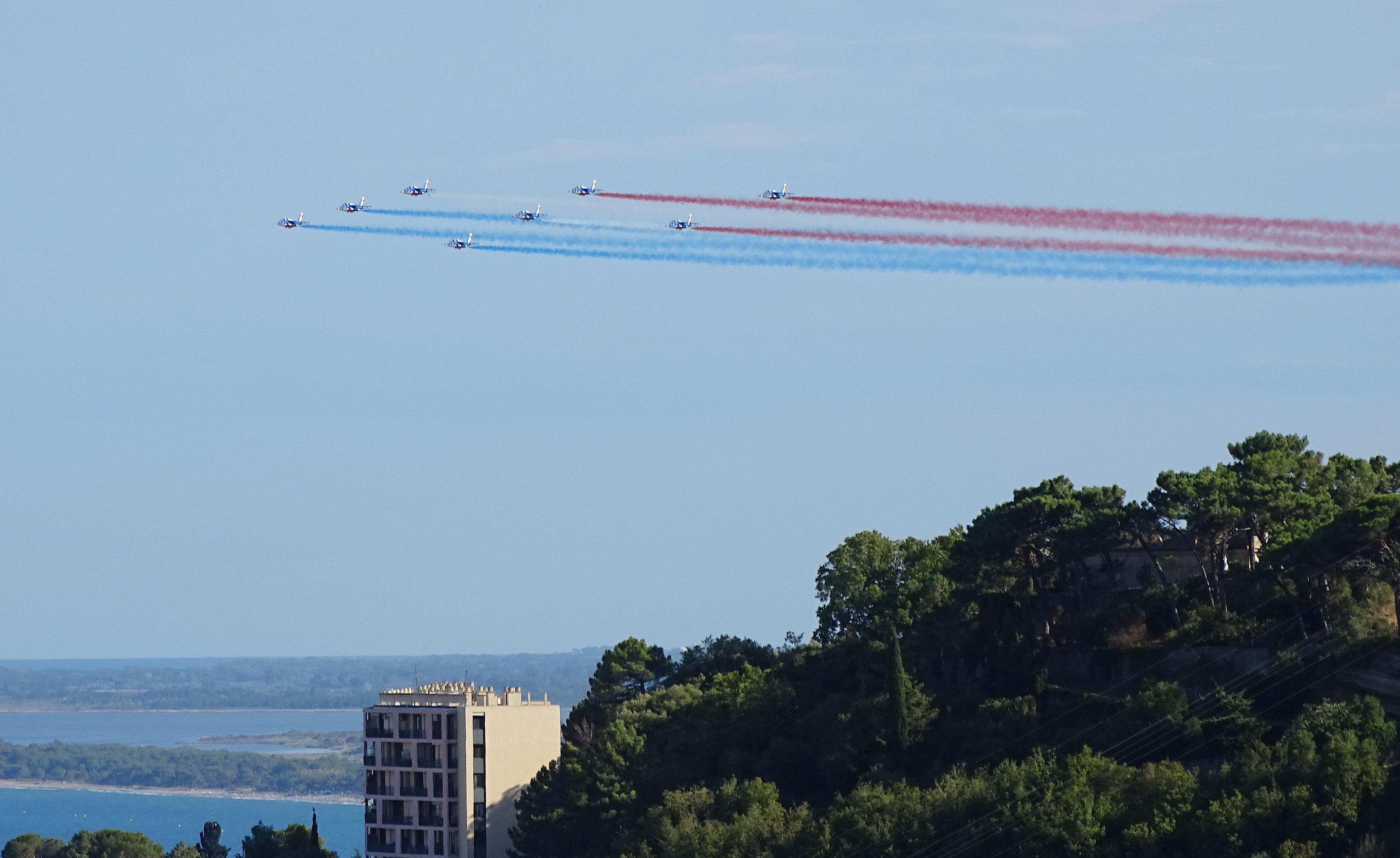 La Patrouille de France dans le ciel de Corse