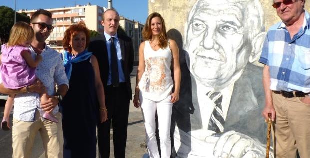 Port Charles-Ornano : Inauguration de la fresque dédiée à l'ancien sénateur-maire d'Ajaccio