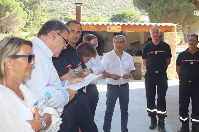 La Direction du SDIS de Haute-Corse à la rencontre des sapeurs- pompiers de Balagne