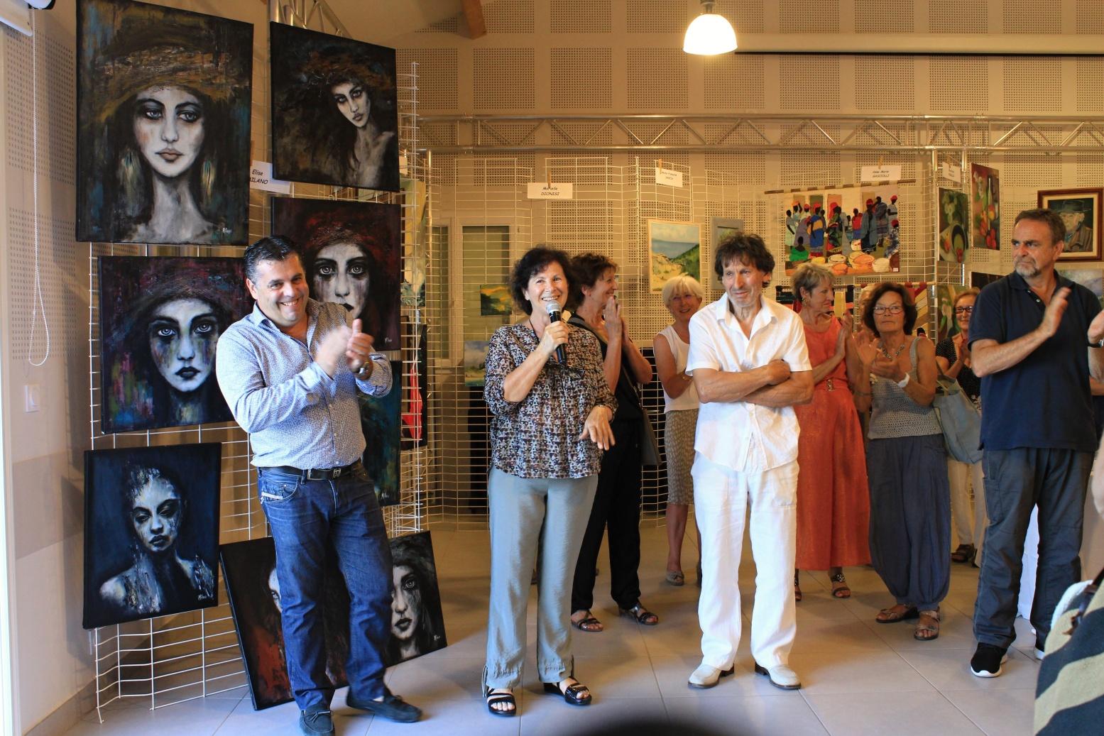 Tallone : Succès complet de la troisième exposition d'artistes peintres et sculpteurs