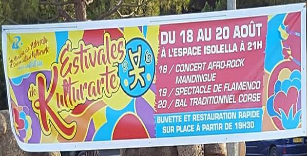 « Les Estivales de Kulturarte » du 18 au 20 août à l'Espace Isollella
