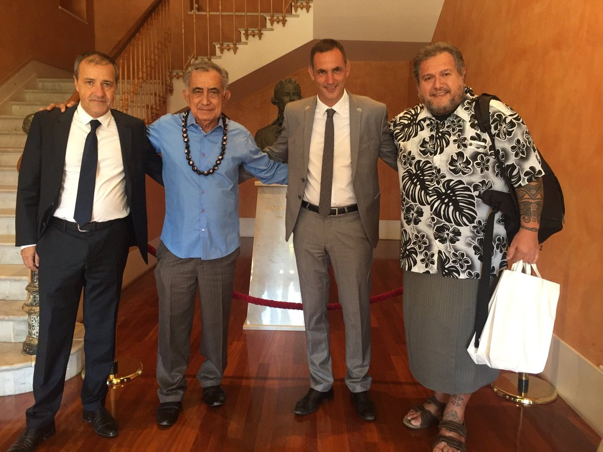 Jean-Guy Talamoni et Gilles Simeoni ont reçu Oscar Temaru lundi matin(@CTC)