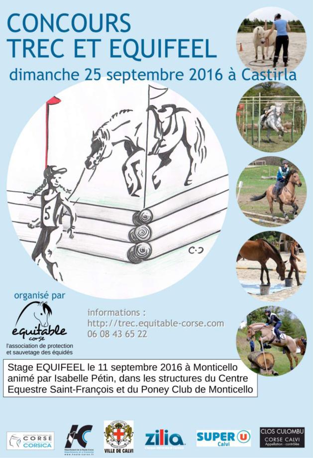 Concours d'Equifeel et de Trec le 25 septembre à Castirla
